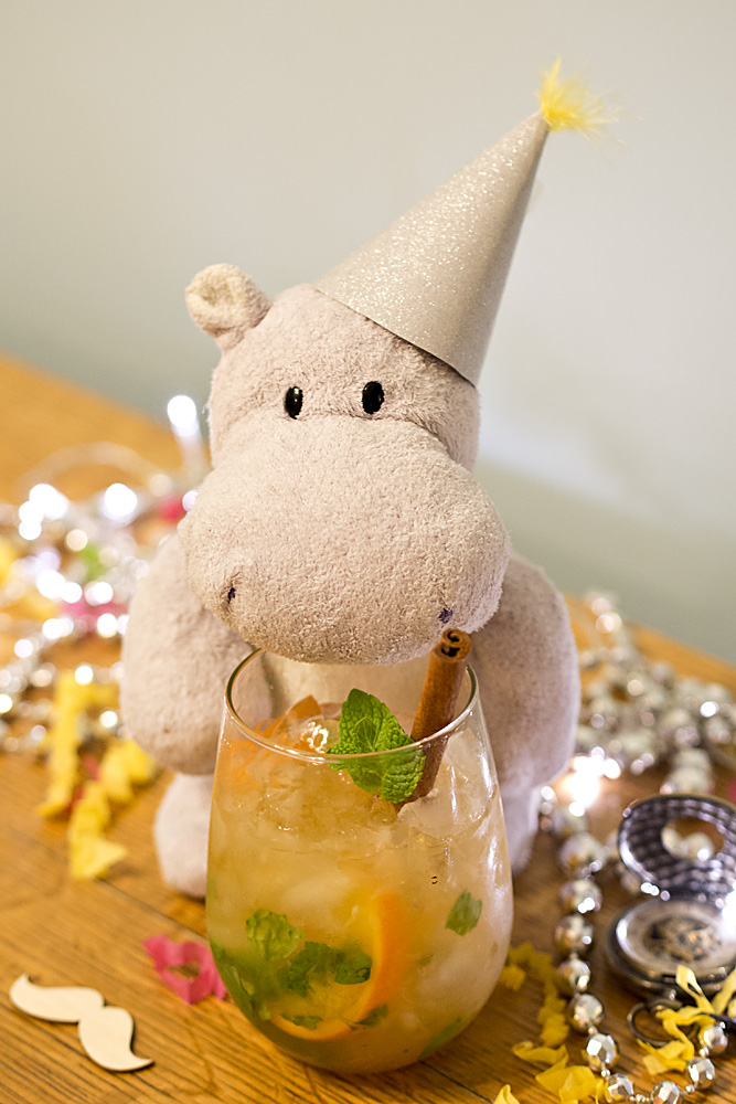 It is New Year's Eve, a time for revelry, tiny hats, and fancy drinks!