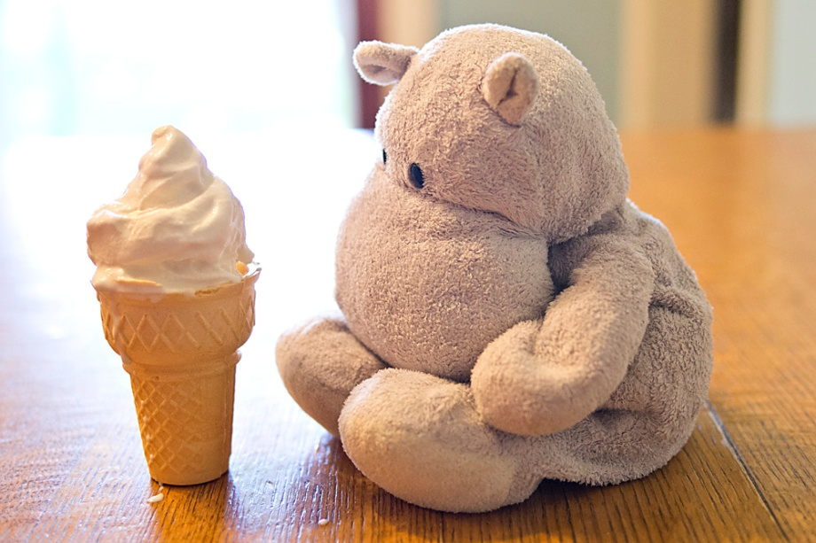 Tiny Hippo's Ice Cream Cone is Not Right