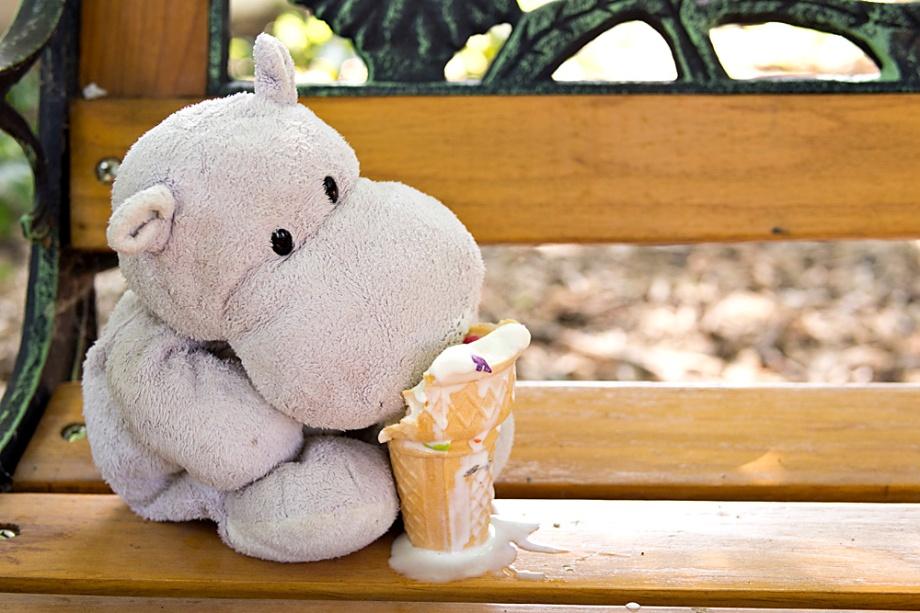 Tiny Hippos Love Ice Cream Cones