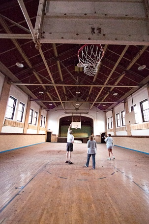 Exploring the Old Basketball Court