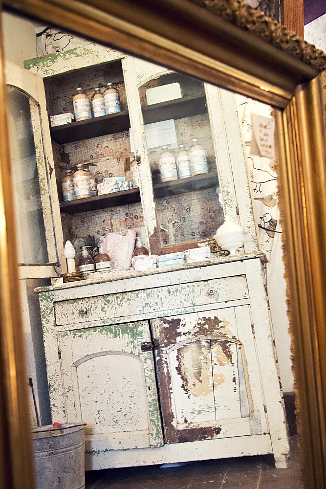 Peeling Paint Cabinet