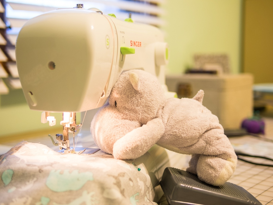 Tiny Hippo uses Sewing Machine