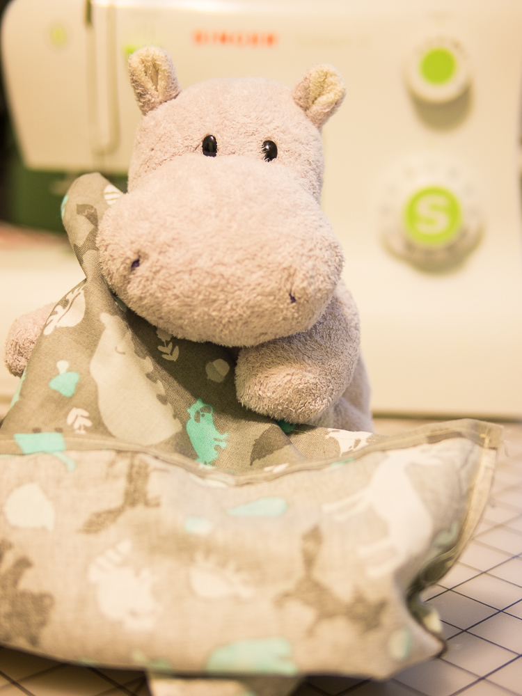 Tiny Hippo with DIY Gift Bag