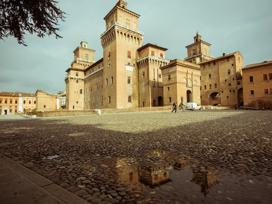 Castello Estense from Piazza Castello, Ferrara, Italy