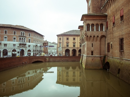 Castle Estense and Moat, Ferrara Italy