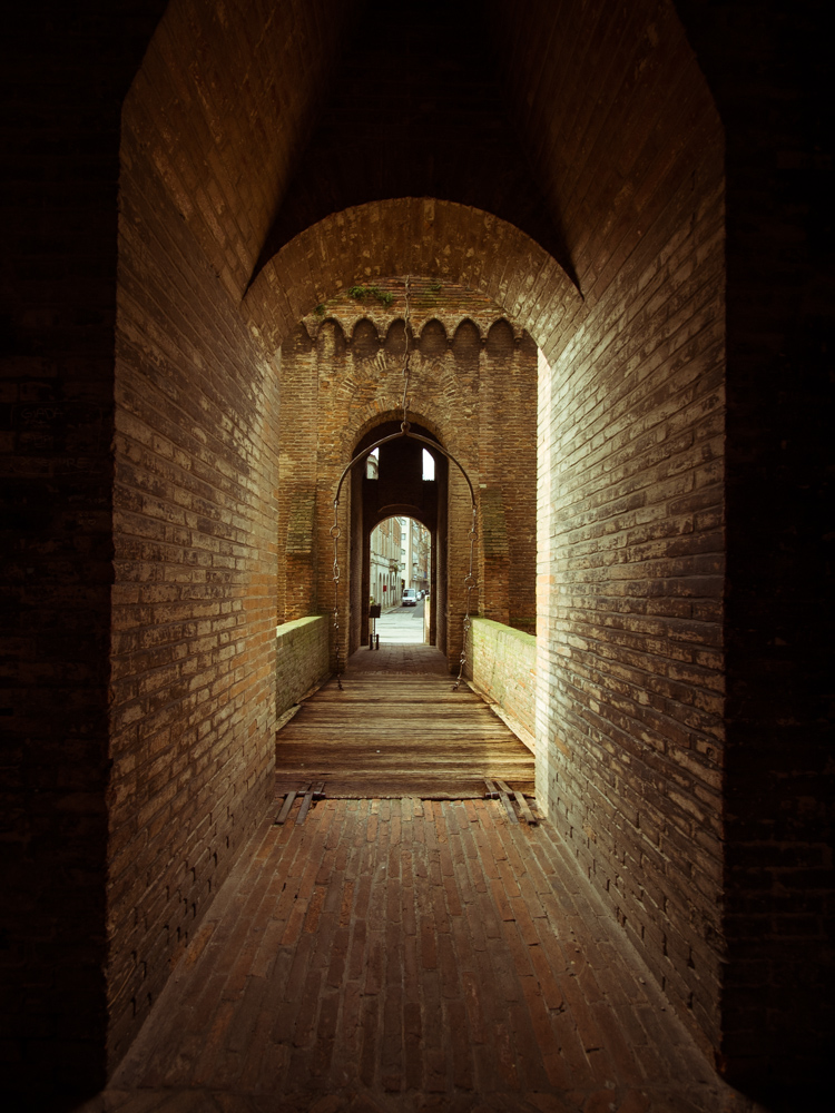 Drawbridge of Castle Estense, Ferrara Italy
