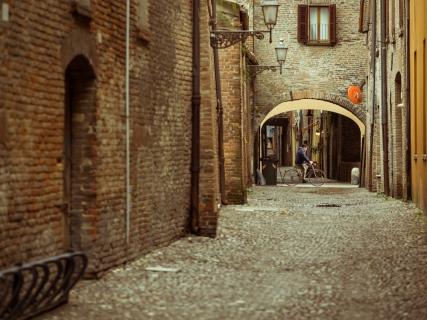 Ferrara Street With Biker