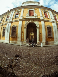 Bikes and Buildings in Ferrara, Italy