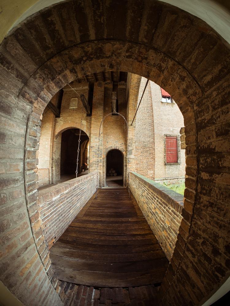Drawbridge of Castle Estense, Ferrara Italy