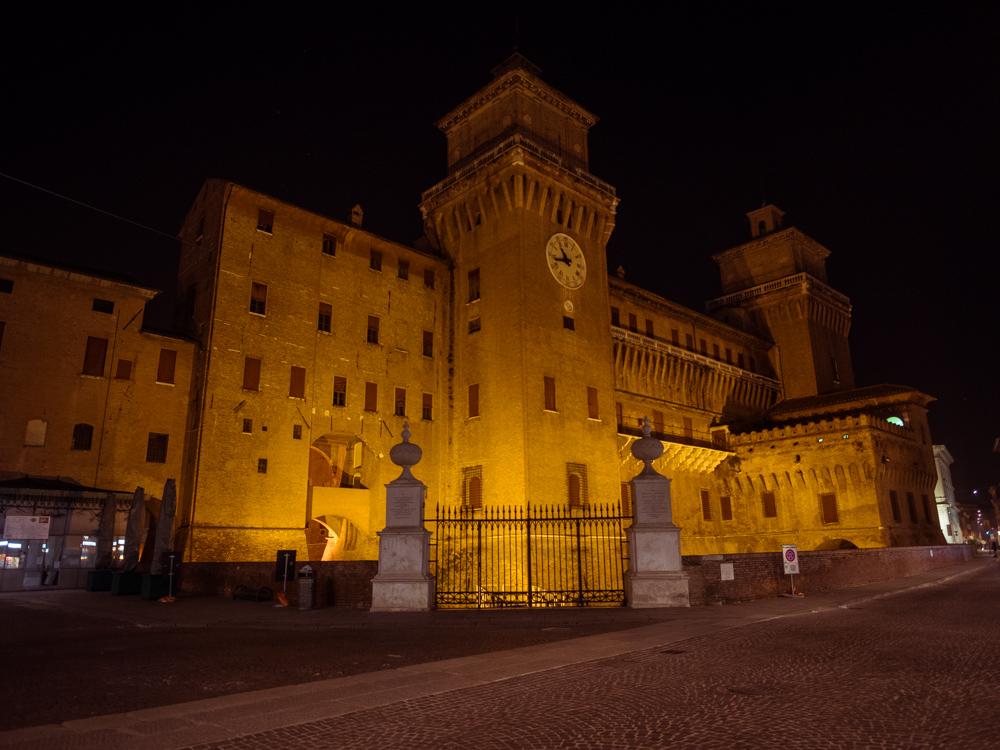 Castello Estense at night, Ferrara, Italy