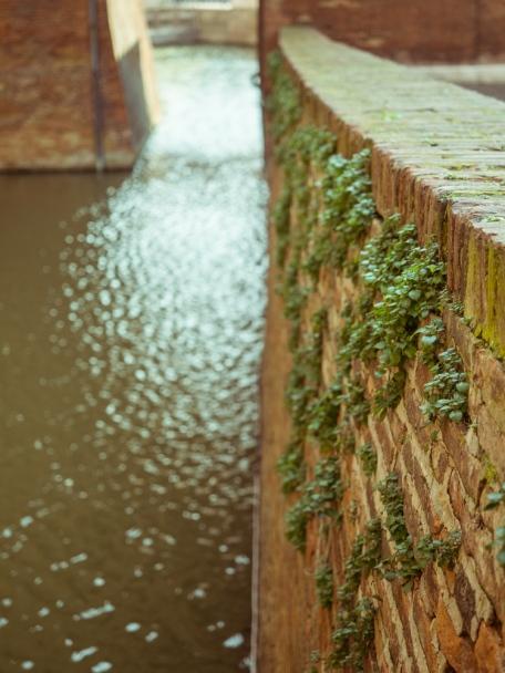 Moat Wall of Castle Estense, Ferrara, Italy