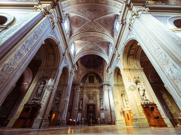 Nave of Ferrara Cathedral