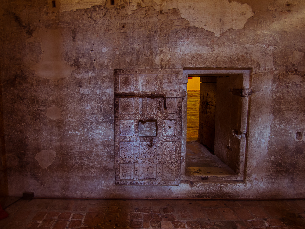 Prison Cell Door in Castle Estense, Ferrara, Italy