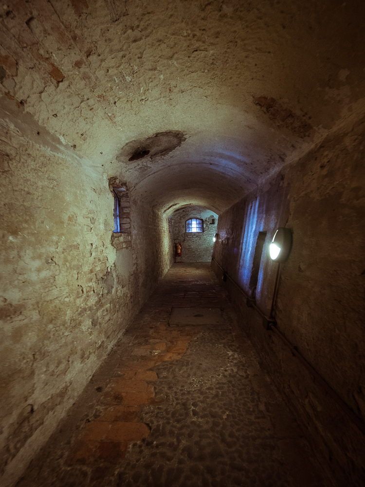 Passage to Dungeons in Castle Estense, Ferrara, Italy