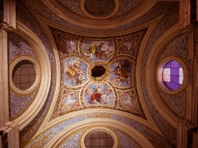 Ducal Chapel: ceiling decorated with the Four Evangelists, Ferrara, Italy