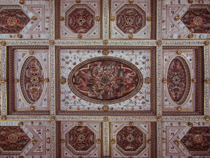 The ceiling of the Government Room, Castle Estense, Ferrara, Italy