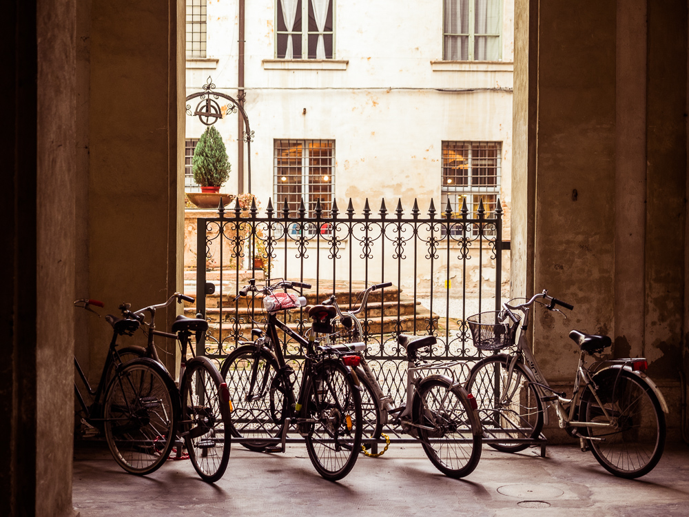 Bikes and a Courtyard