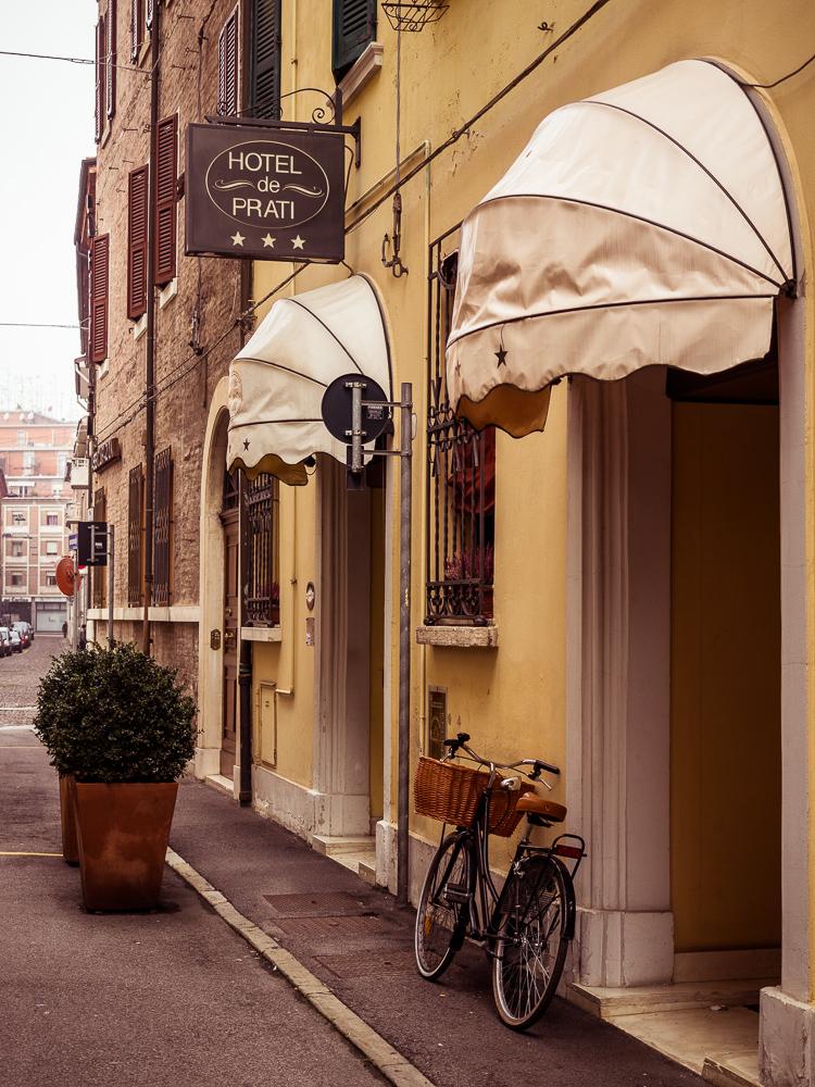 Bike Outside Hotel de Prati, Ferrara Italy