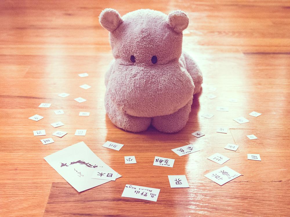 Tiny Hippo Learns Kanji