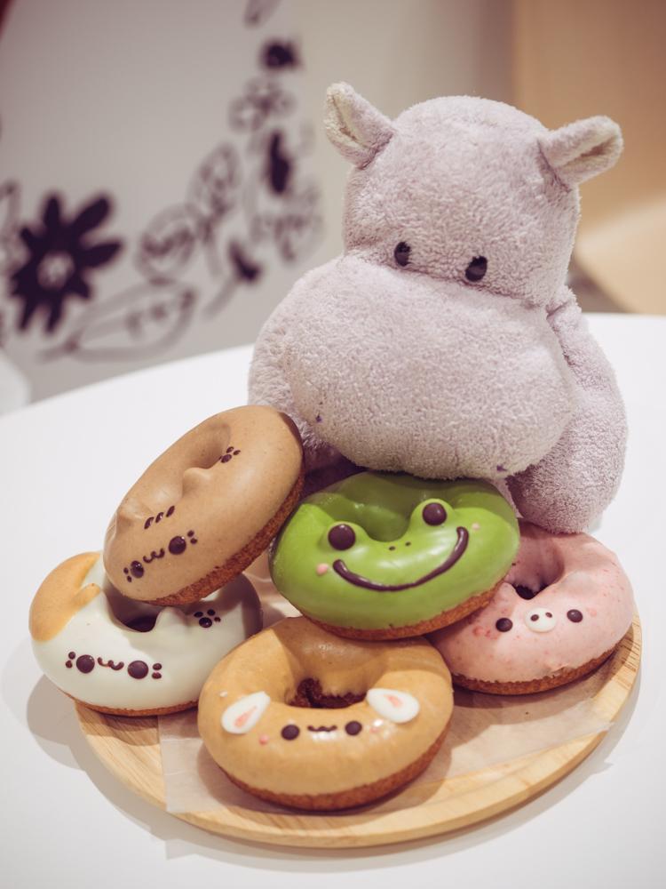 Tiny Hippo Eats Frog Donut