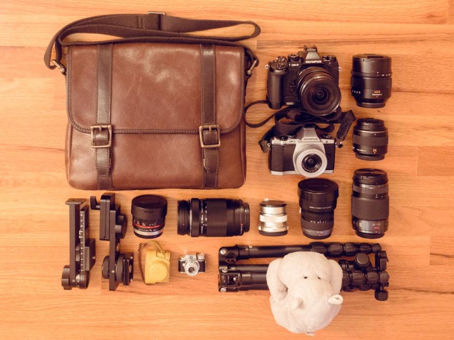 Tiny Hippo with his Camera Gear