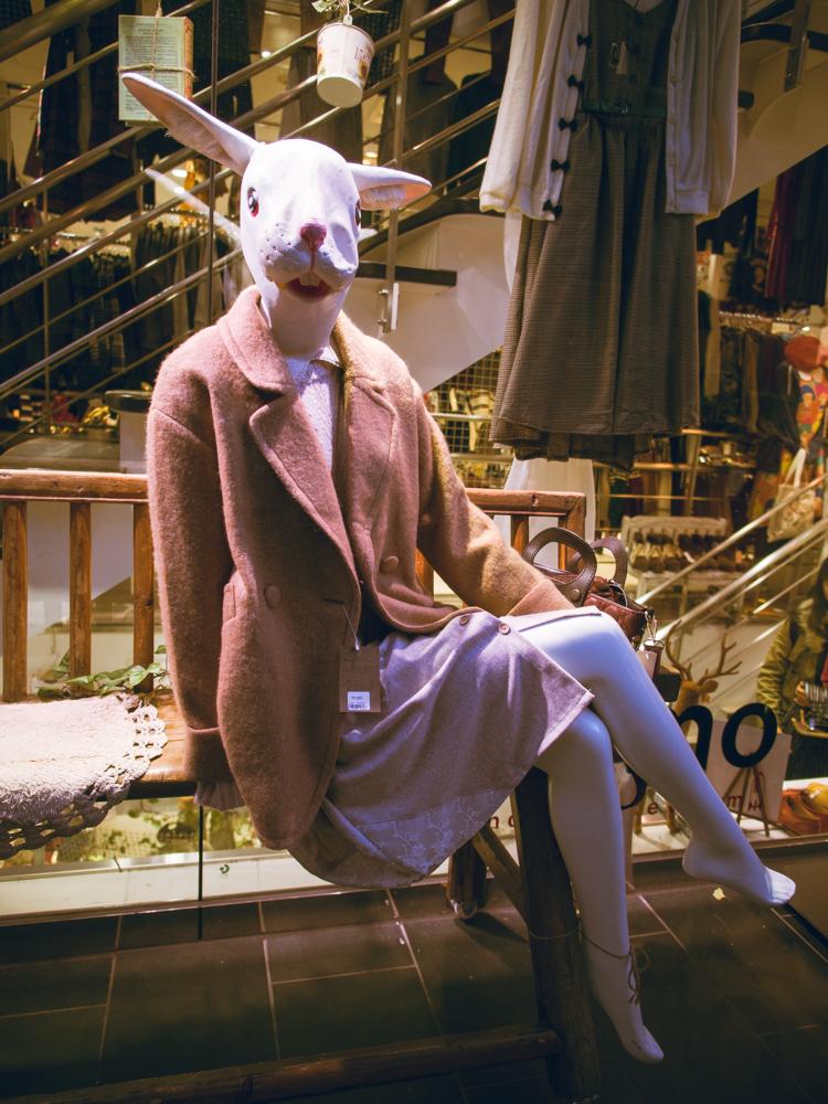 Rabbit Mannequin in Harajuku