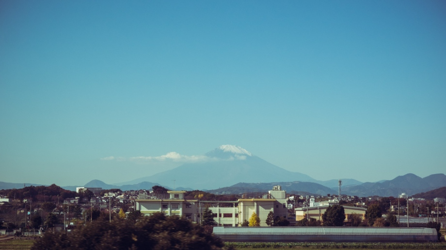 Mount Fuji from Bullet Train