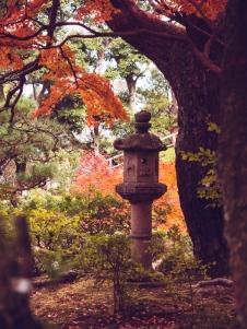 Lantern in Yoshikien Garden