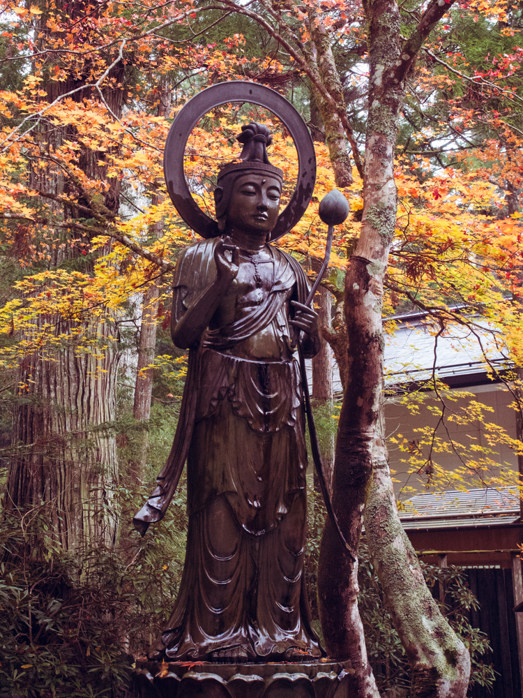 Wet Statue on Koyasan