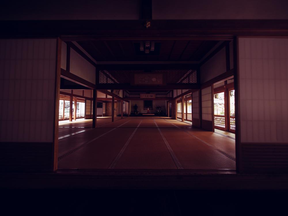 Inside temple lodgings