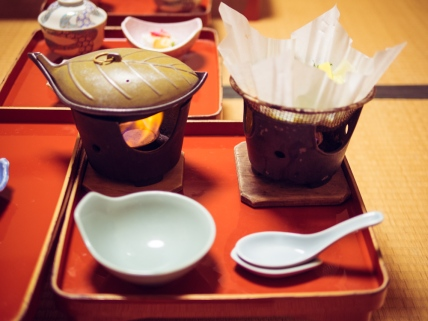 Dinner at Koyasan Onsen Fukuchiin