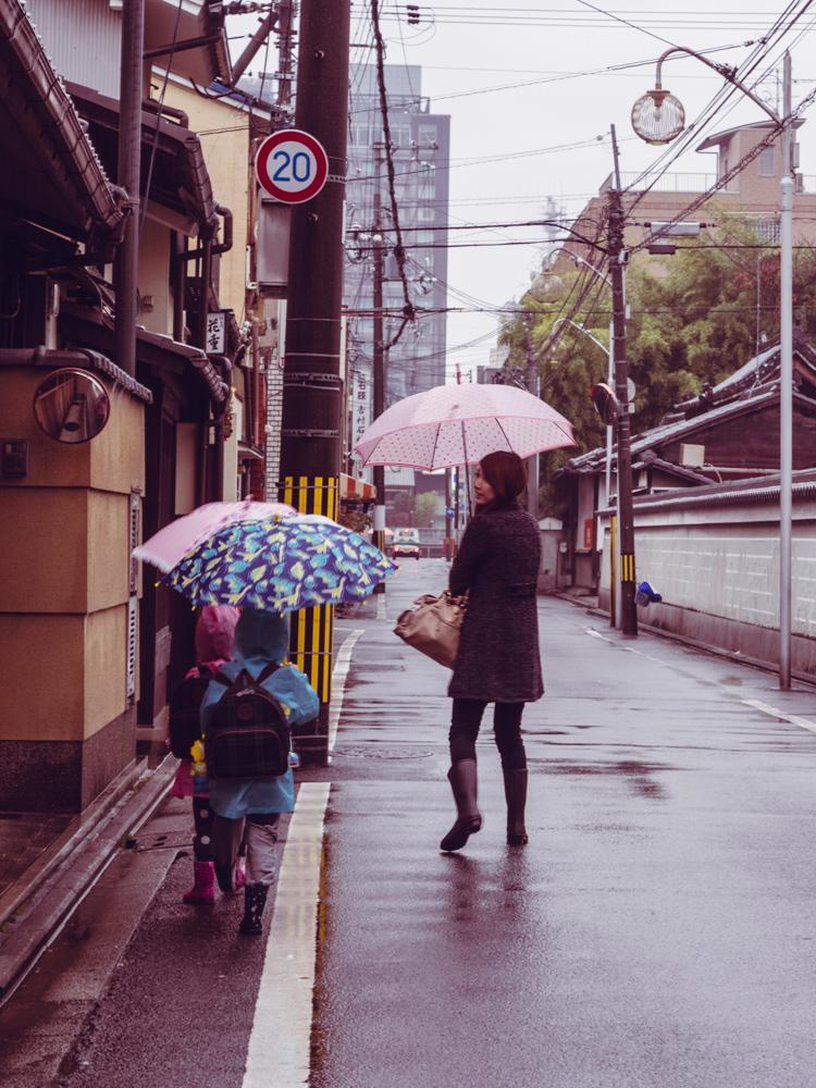 Little Kids with Umbrellas